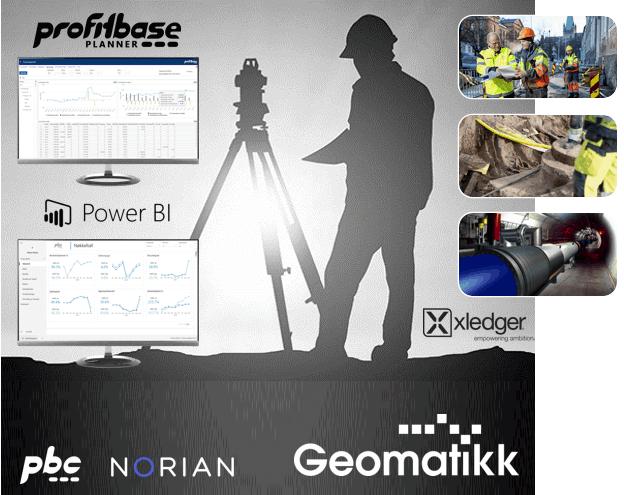 Geomatikk, en kunde av Profitbase og PBC